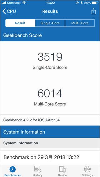 スマホの性能測定「Geekbench4」